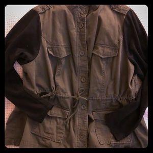 Torrid army green and black jacket